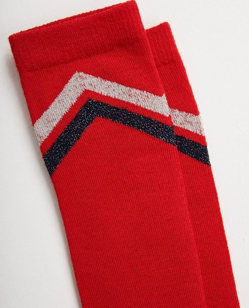 Chaussettes - dark red - Mi-bas rouges, rayures