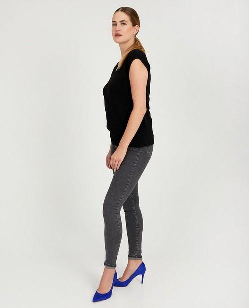 Grijze blouse met metaaldraad Sora - allover - Sora