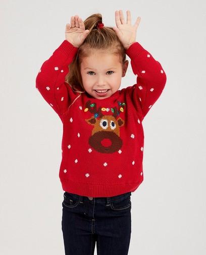 Rode rendier-trui met lichtjes
