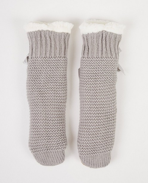 Pantoufles grises, 34-39 - modèle chaussettes - JBC