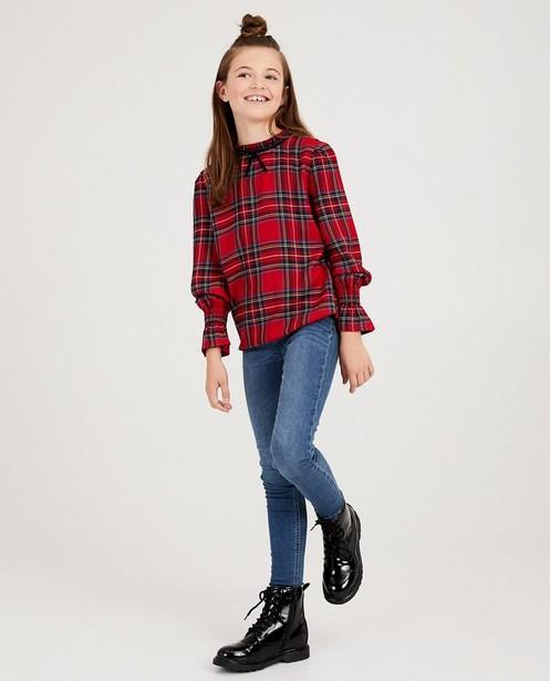 Rode blouse met ruitprint - #familystoriesJBC - JBC