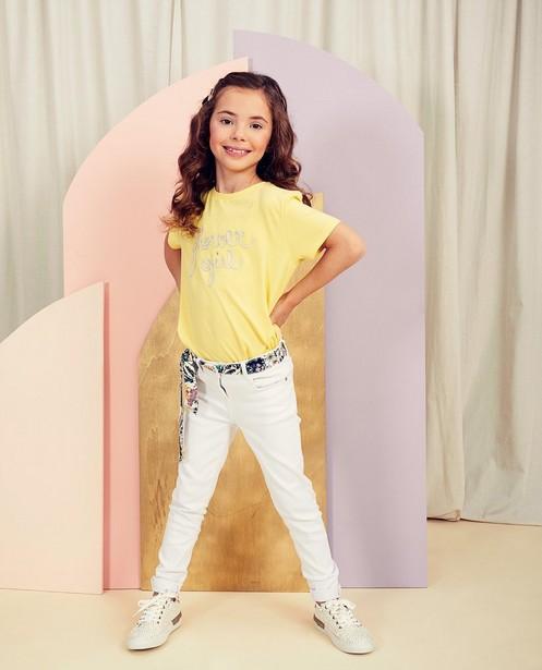 Wit T-shirt met opschrift Communie - null - Milla Star