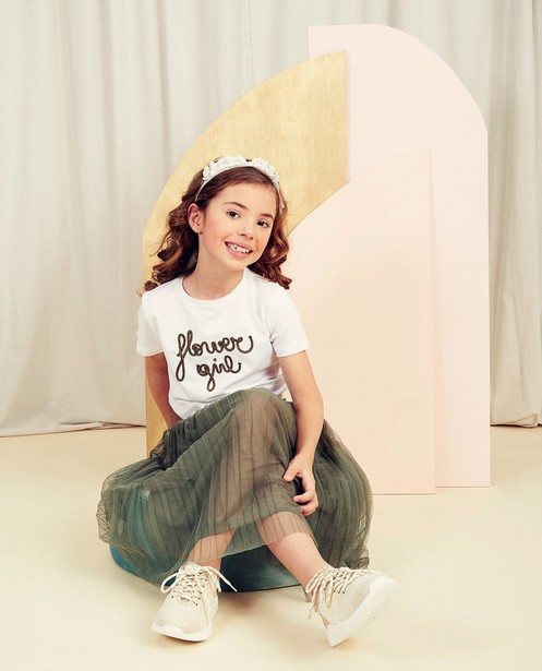 T-shirts - Wit T-shirt met opschrift Communie