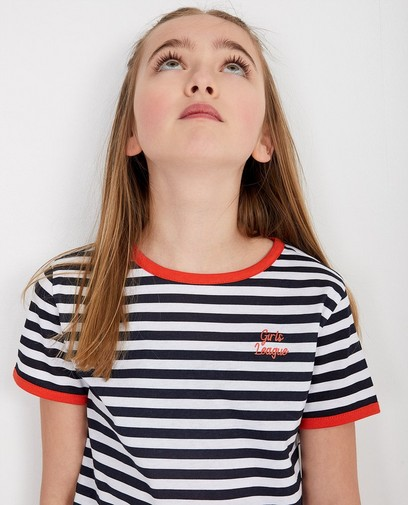 Gestreept T-shirt in wit BESTies
