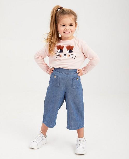 T-shirt rouille à manches longues - imprimé bicolore - Milla Star