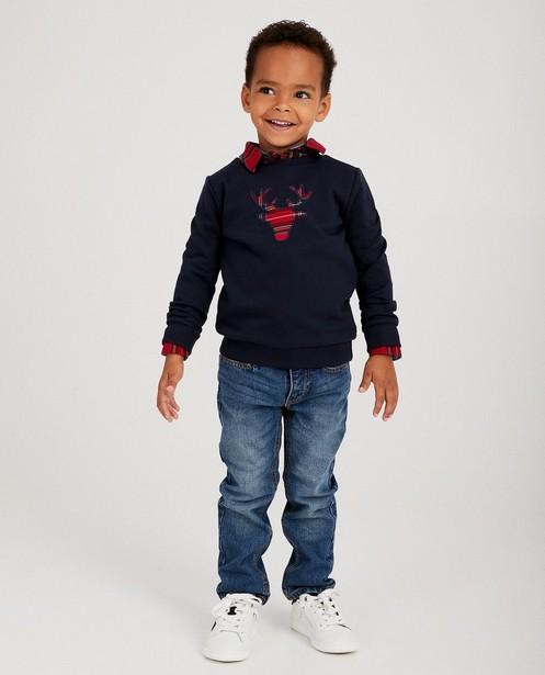 Blauwe rendier-sweater, 2-7 jaar - #familystoriesJBC - JBC NL