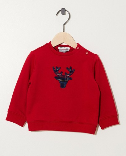 Sweat rouge renne