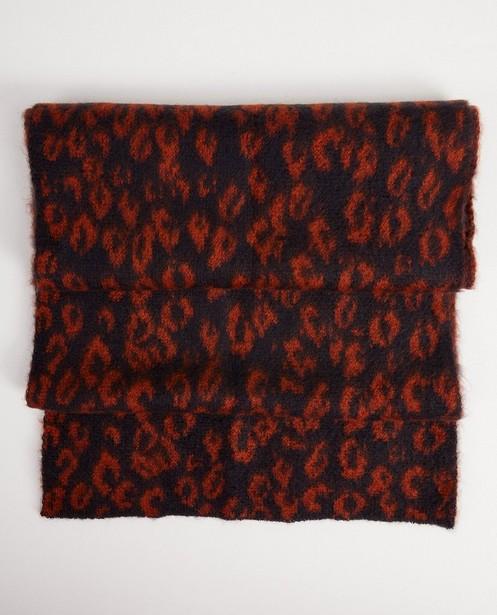 Écharpe bleu foncé - imprimé léopard - JBC