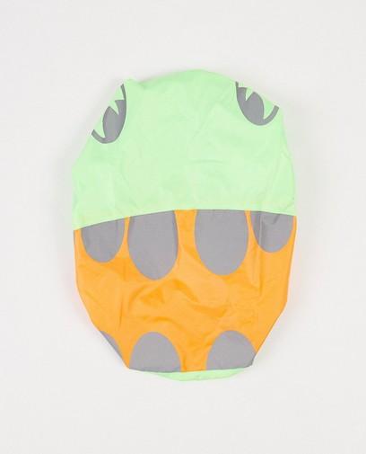 Grün-orangefarbene Rucksackhülle mit Print