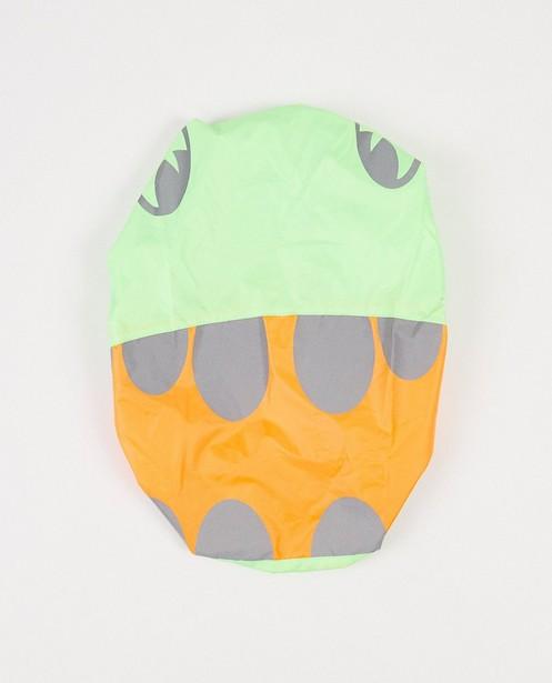 Groen-oranje rugzakcover met print - reflecterende print - JBC