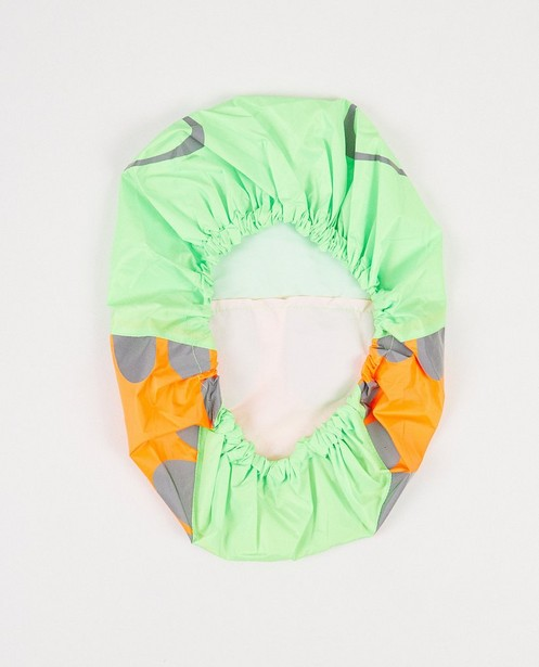 Gadgets - Grün-orangefarbene Rucksackhülle mit Print