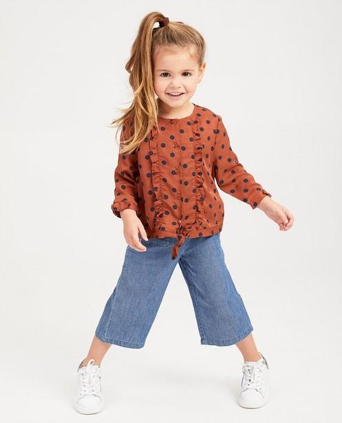 Roestbruine blouse met stippen - null - Milla Star