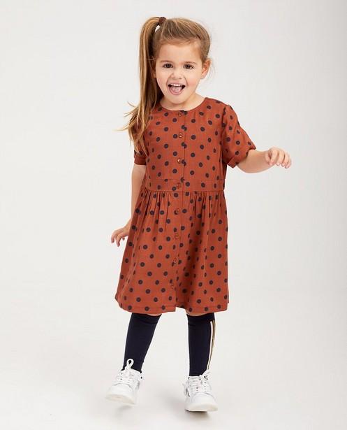 Rostbraunes Kleid mit Punkten - aus Viskose - Milla Star