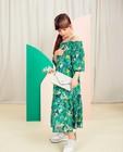 Robe verte Communion - imprimé fleuri intégral - Milla Star