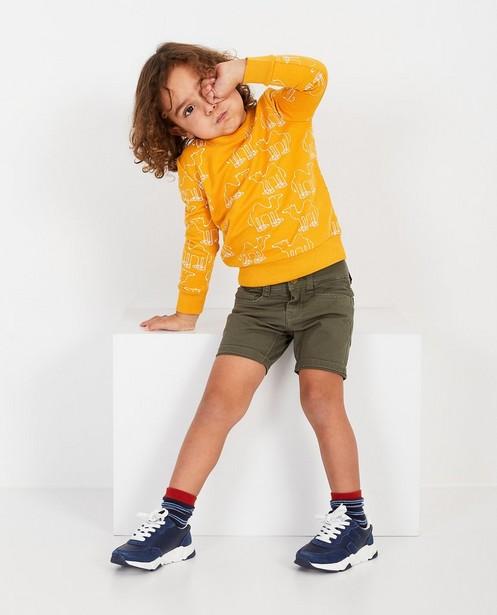 Gele sweater met print BESTies - null - Besties