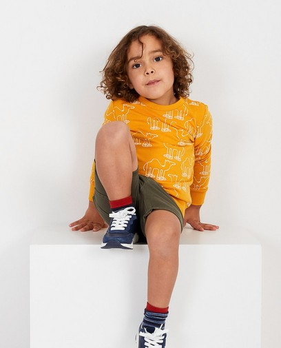 Gele sweater met print BESTies