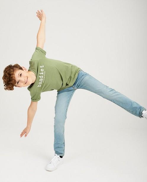 Skinny bleu clair JOEY, 7-14 ans - plis de port - JBC