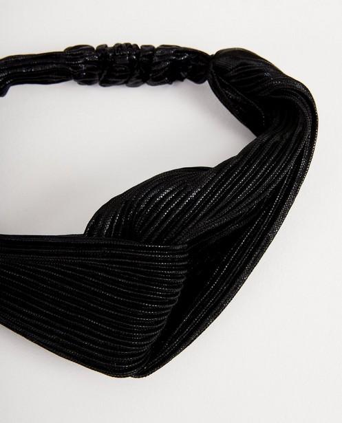 Bandeau noir à plis - brillant - JBC