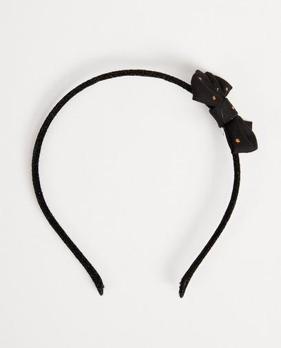 Diadème noir avec nœud