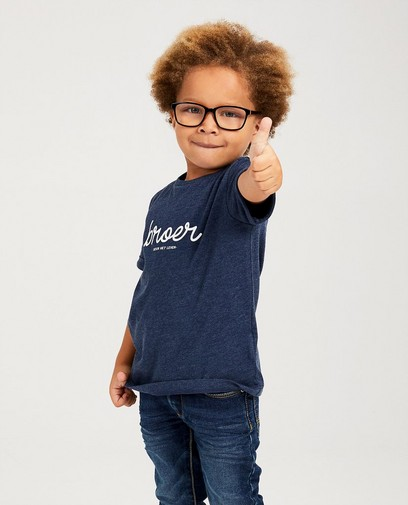 T-shirt bleu à inscription (NL)