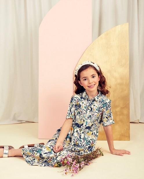 Robe fleurie Communion, 6-14 ans - imprimé fleuri intégral - Milla Star