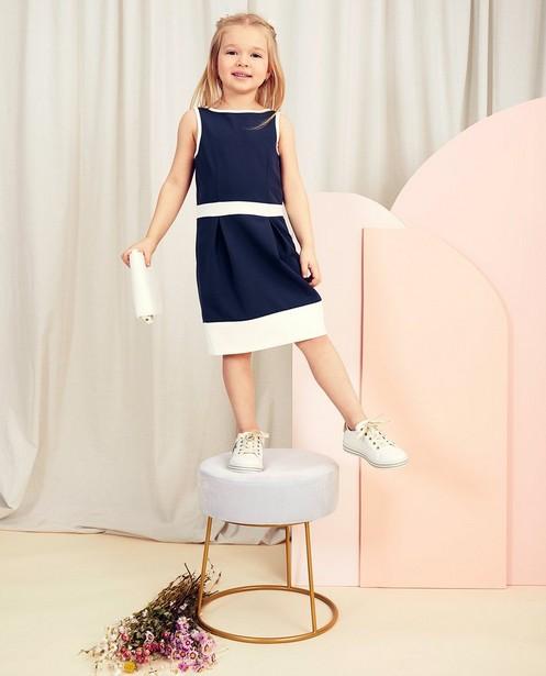 Blaues Kleid Kommunion - mit weißen Details - Milla Star