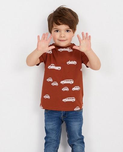 T-shirt brun, imprimé BESTies