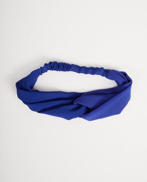 Bandeau avec nœud - bleu cobalt - JBC