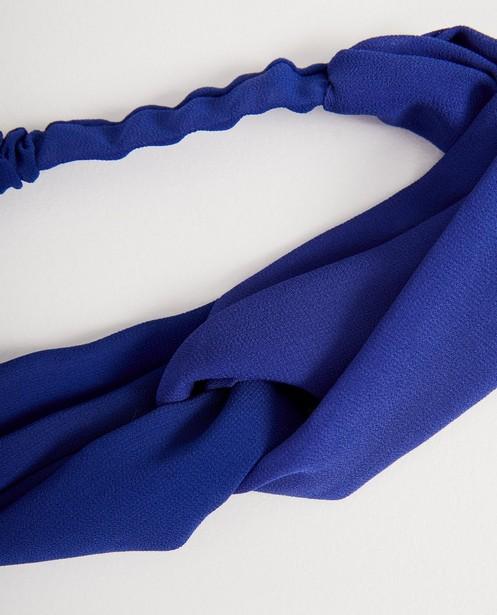 Strickware - Kobaltblaues Haarband