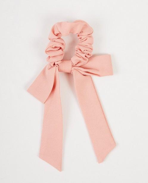 Roze scrunchie met strik - Kaatje - JBC