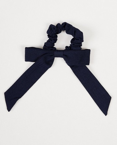 Chouchou bleu marine, nœud