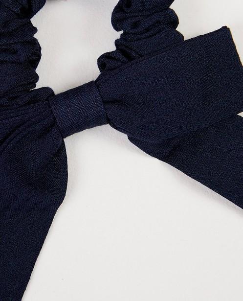 Bonneterie - Chouchou bleu marine, nœud
