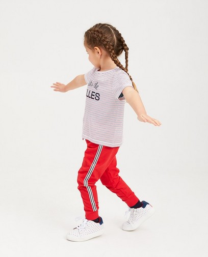 Pantalon de jogging rouge BESTies