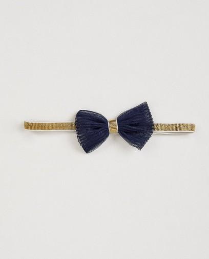 Haarband met blauw strikje