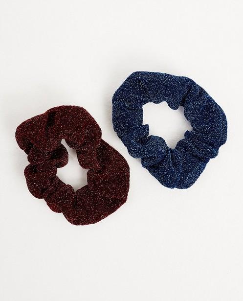 Set van 2 scrunchies - in blauw en rood - JBC