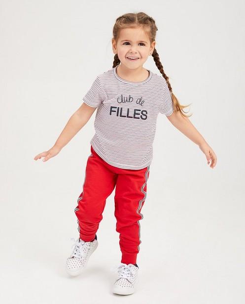 T-shirt met streepjes BESTies - null - Besties