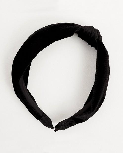 Zwarte haarband van fluweel - met knoop - JBC