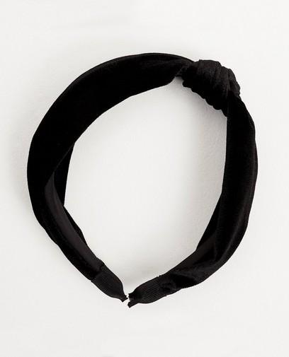 Zwarte haarband van fluweel