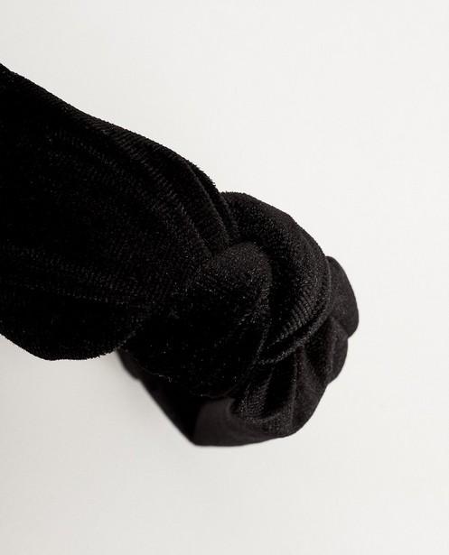 Breigoed - Zwarte haarband van fluweel