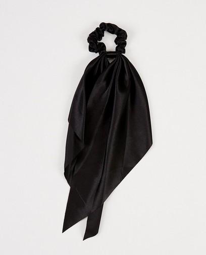 Schwarzes Zopfband mit Bändern