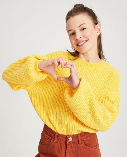 Pull jaune tricoté