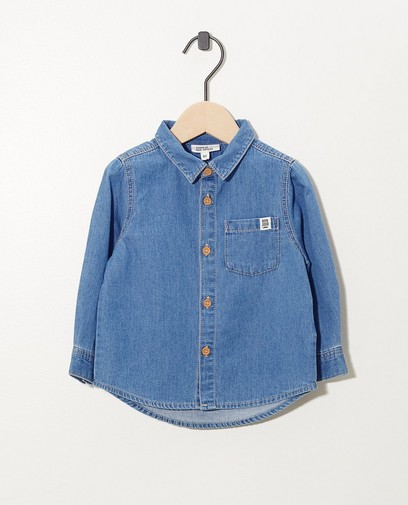 Chemise bleu clair en denim