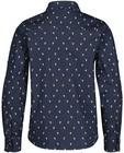 Hemden - Blauw hemd met print Communie