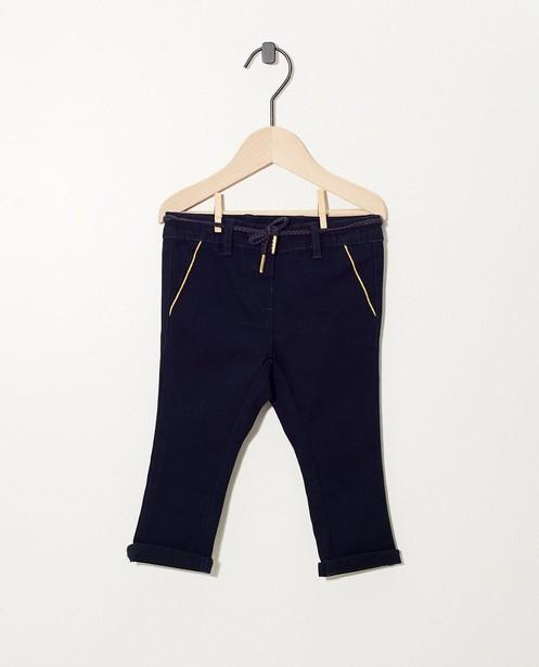 Blauwe broek met sierbiesje - goudkleurig - cudd