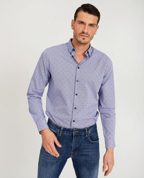 Chemises - Lichtblauw hemd met print