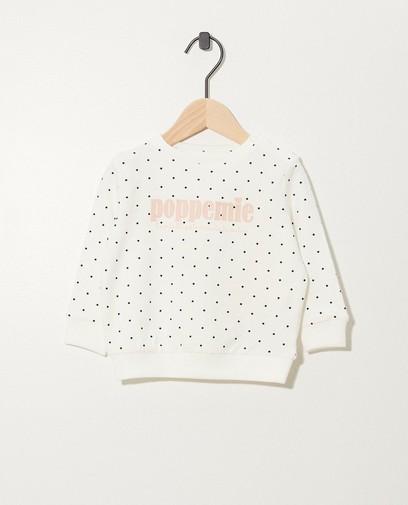 Weißer Sweater aus Bio-Baumwolle (NL)