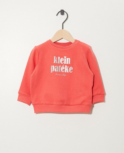 Rosa Sweater aus Bio-Baumwolle (NL)
