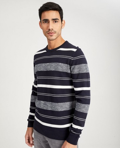 Gestreepte trui van fijne tricot