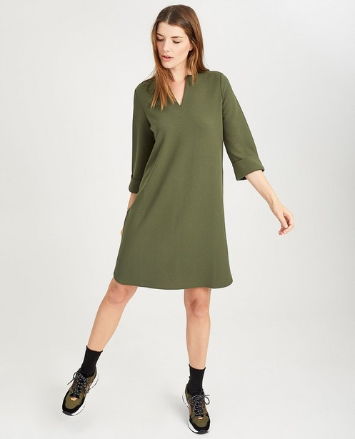 Donkergroene jurk Sora - stretch - Sora