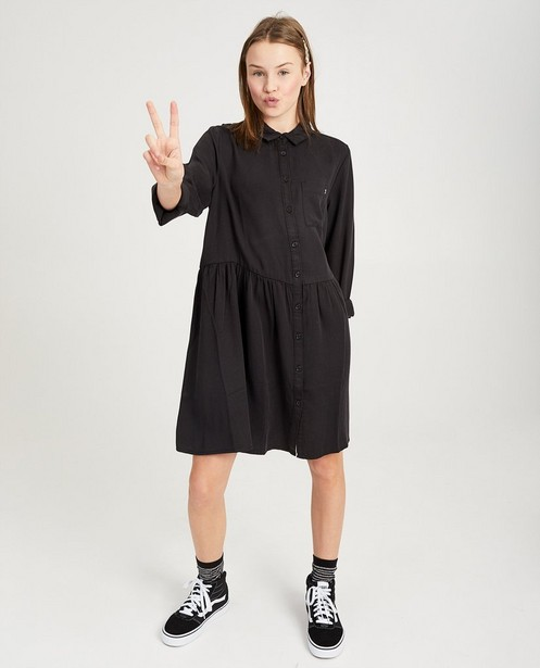 Zwarte jurk - van lyocell - Groggy